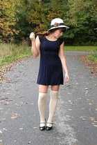 Urban Outfitters dress - TJMaxx coat - thrifted hat - Urban Outfitters socks