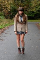 tan vintage blazer - dark brown cheerio seychelles boots