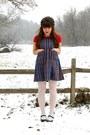 Off-white-ralph-lauren-tights-blue-plaid-thrifted-jumper