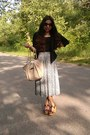 Black-express-blazer-cream-rosetti-bag-target-sandals