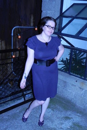 purple Mossimo dress - purple SJP Bitten shoes - black Target belt - black Untam