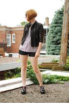 black OASAP jacket - black Urban Outfitters shorts - maroon Lululemon socks