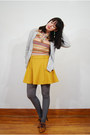 Heather-gray-urban-outfitters-tights-tawny-ebay-heels-orange-vintage-t-shirt