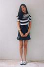 Navy-striped-taobao-top-off-white-metallic-taobao-loafers