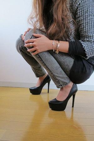 Jessica Simpson heels - Random from Korea jeans - Mango blazer - Zara shirt