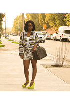 lime green Qupid wedges - lime green multi striped You Like It I Made It sweater