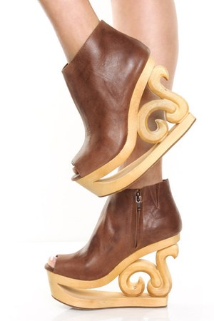 brown Jeffrey Campbell wedges