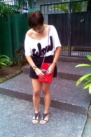 Mango blouse - vintage shorts - Dorothy Perkins - Dorothy Perkins - DKNY