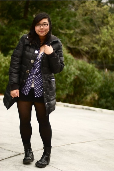 black down jacket style&co jacket - black 6th grade ftl espirit boots