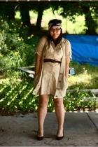 Old Navy dress - free people vest - vintage scarf - Target shoes - vintage belt