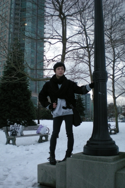 American Apparel scarf - vintage jacket - vintage sweater - Blank Urban Outfitte