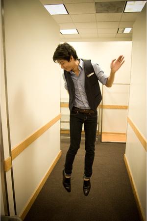 Gap shirt - Gap jeans - hand me down vest - Aldo shoes