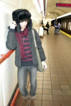 H&M hat - Diesel jacket - American Eagle shoes - H&M sweater