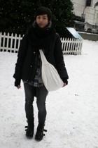 Diesel jacket - American Apparel scarf - Urban Outfitters purse - vintage shirt