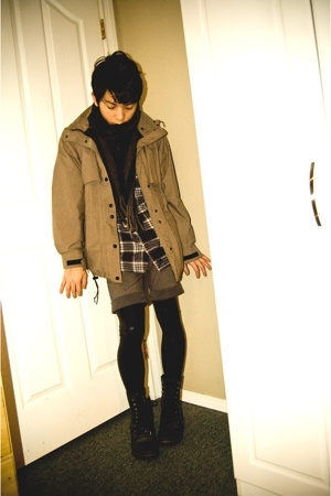 vintage jacket - American Apparel leggings - Aldo boots - Aeropostale shirt