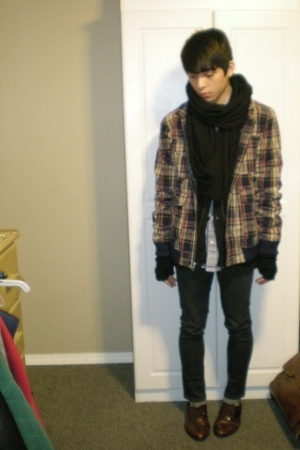 Urban Outfitters jacket - American Apparel scarf - Blank Urban Outfitters jeans
