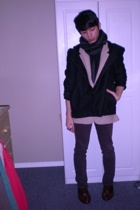 H&M jacket - thrifted blazer - thrifted scarf - BDG urban outfitters pants - thr