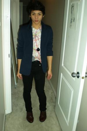 vintage blazer - H&M accessories - lady dutch pants - Urban Outfitters shirt