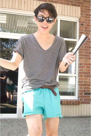 top - shorts - belt