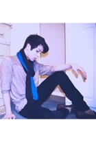 Gap scarf - Gap scarf - BDG urban outfitters shirt - Silence & Noise pants - thr