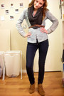 Bronze-deena-ozzy-boots-navy-forever-21-jeans-periwinkle-target-shirt-gra