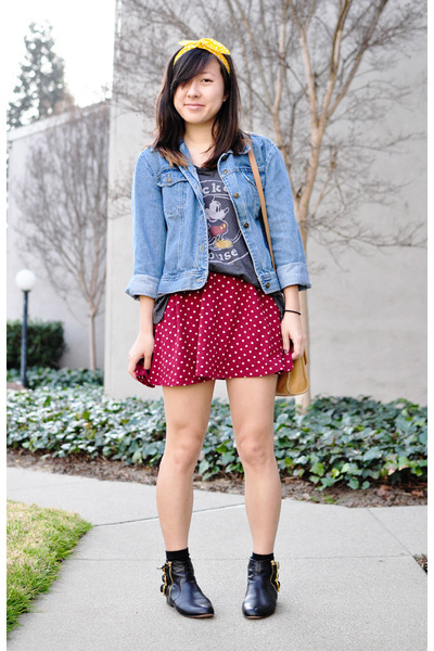 With Denim Jacket And Boots