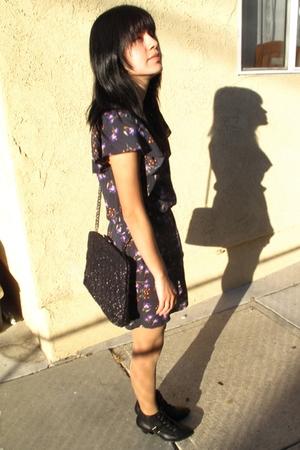 Forever 21 dress - Zara purse - Topshop boots
