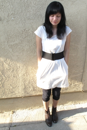 SilenceNoise dress - American Apparel belt - vintage boots