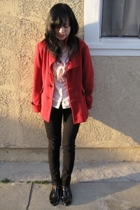 forever 21 coat - Marc by Marc Jacobs shirt - f troupe shoes