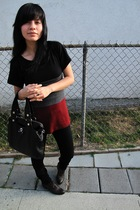 forever 21 shirt - vintage boots - Marc by Marc Jacobs purse