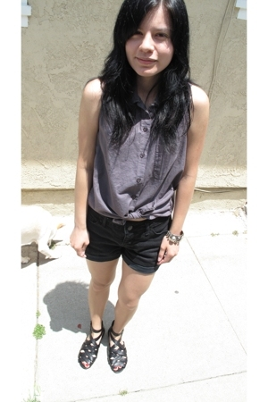 lark & wolf shirt - BDG shorts - Jeffrey Campbell shoes
