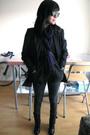 Black-zacharys-smile-white-label-blazer-black-h-m-scarf-brown-persol-sunglas