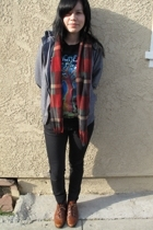vintage scarf - vintage from Wasteland boots - Urban Outfitters sweater