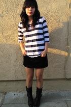 Zara t-shirt - forever 21 skirt - Aldo boots