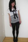 White-zara-shirt-black-forever-21-shorts-black-vintage-boots