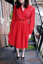 Red Dresses Black Urban Outfitters Shoes