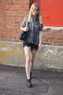 Black-h-m-boots-black-ebay-shorts-charcoal-gray-vila-blouse