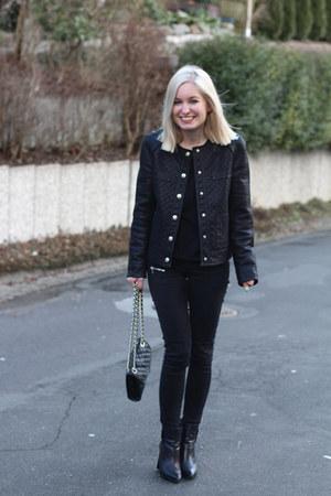 Mango jacket - Mango boots - quilted bag Rebecca Minkoff bag - Zara pants
