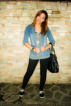 Folded & Hung blazer - Forever 21 top - Marithe Francois Girbaud bag - Off Shore
