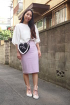 black cushion heart GVGV bag - light pink GVGV skirt