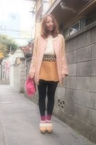 bubble gum nadesico coat - eggshell American Apparel sweater