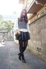 Black-miumiu-boots-white-trump-shirt-murua-shirt-dark-green-topshop-bag