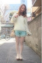 aquamarine nadesico sweater - cream bijou purse Accessorize bag