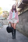 Bubble-gum-tweedy-jacket-velnica-jacket-light-blue-nasty-gal-shirt