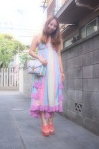 sky blue rainbow dress nadesico dress - light purple nomine bag