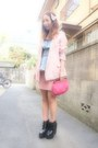 Pink-american-apparel-skirt-black-busted-jeffrey-campbell-boots