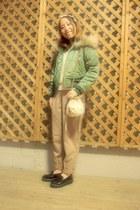 off white American Apparel sweater - beige bijou purse accessarize purse