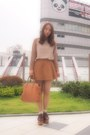 Camel-two-tones-shirt-uniqlo-gvgv-shirt-tawny-leather-bag-fandi-bag