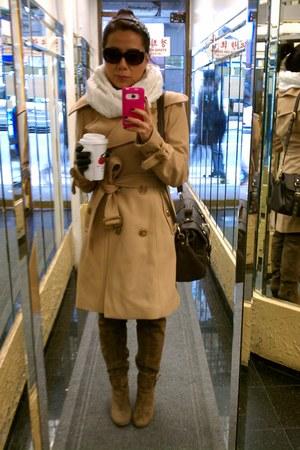 NY&CO coat - boots - American Eagle scarf - Oscar de la Renta sunglasses