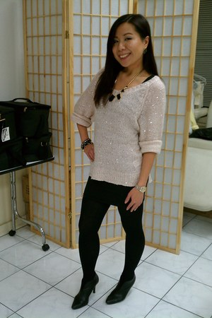H&M sweater - H&M dress - NY&CO wallet